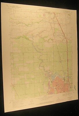 Lodi North California Collierville 1977 vintage USGS original Topo chart map
