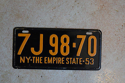 1953 New York General Mills Cereal Bike License Plate Empire State
