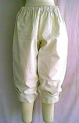 Reenactors 1700's to 1800's Style Theatrical Costume Breeches Beige or Black