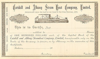 1885 Catskill and Albany Steam Boat   Hudson New York stock certificate share
