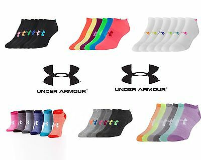 Under Armour UA Ladies Womens No Show Ankle Socks 6 Pack 1259363 YOU GET 6 PAIRS