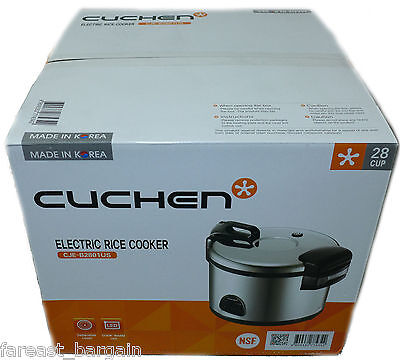 Cuchen Commercial Rice Cooker & Warmer 28 Cup NSF APPROVED Made in Korea