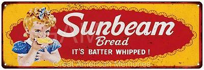 Sunbeam Bread Vintage Look Reproduction Metal 6x18 Sign 6180235