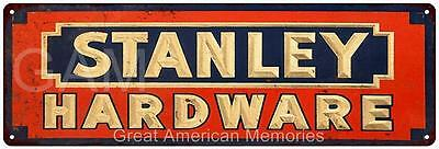 Stanley Hardware Vintage Look Reproduction Metal 6x18 Sign 6180282