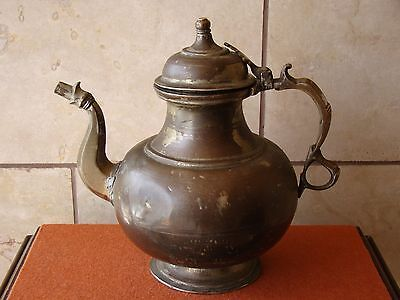 "Antique/Old Vintage Copper/Brass Arabic Islamic Kettle/Tea Pot  9 3/4""Tall"