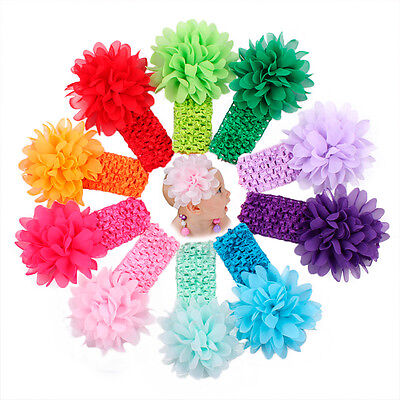 Kids Girls Newborn Baby Toddler Flower Headband Hair Band Accessories Headwear