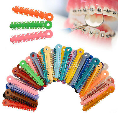 1040pcs AZDENT Dental Orthodontic Accessories Ligature Ties Mixed Color