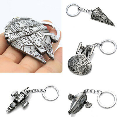 Creative Star Wars Millennium Falcon Metal Keyring Keychain key Fob Gift New