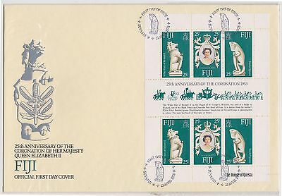 (OK-189) 1978 Fiji FDC M/S 25th anniversary of coronation