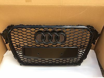 2012-2016 Audi A4 S4 To Rs4 Grill Gloss Black Grille B8.5 Uk Stock Black Edition