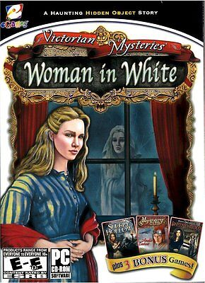Victorian Mysteries: Woman in White (PC CD) NEW SEALED & 3 Bonus Games