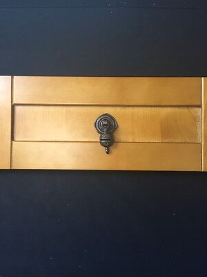 Oil Rubbed Bronze Decorative Victorian Recessed Drawer / Cabinet Pull Handles