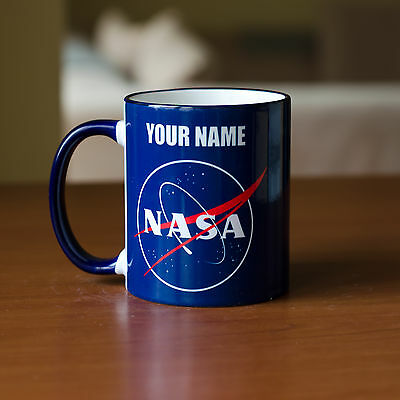 NASA mug with your Name personalised gift friend cup tea coffee logo space 11oz