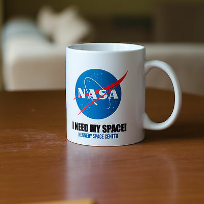 NASA Logo Personalised mug with your Name gift for friend cup tea coffee white