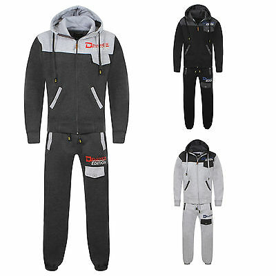New Boys Tracksuit Hooded Top Jogging Bottoms Kids Jogging Suits Age 7-13 Year