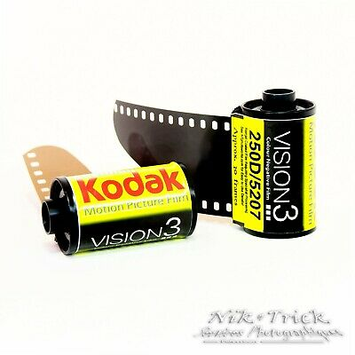 Kodak Vision3 250D 35mm Motion Picture Film ~ Single Roll 30 Exposures