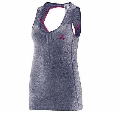 Salomon Women's Seamless Tank - Quick dry Athletic Top XS-L