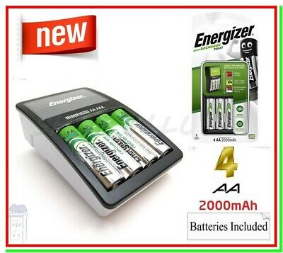 Caricabatterie per Pile Ricaricabili ENERGIZER RECHARGE MAXI +4 AA STILO 2000mAh