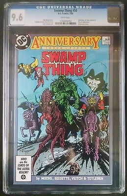 Swamp Thing #50 1986 Anniversary Issue Cgc 9.6 White Pages Alan Moore..