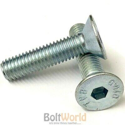 M4 M5 M6 M8, 10.9 Grade Zinc Countersunk Csk Socket Caps Screws, Allen Key Bolts