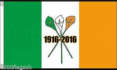Ireland Three Lilies Easter Rising Centenary 1916 to 2016 5'x3' Flag