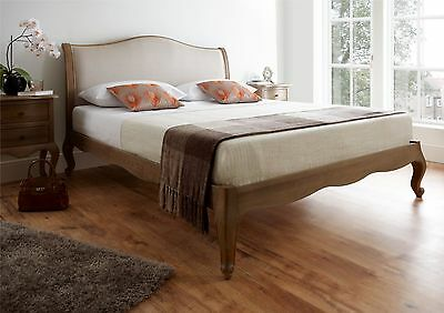French Style Amelia Weathered - Oak - Low Foot End - Double Bed Frame Only