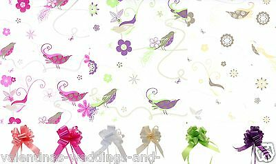 Cellophane Wrap Pull Bow Songbird Floral Bouquet Hamper Gift