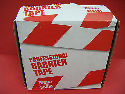 Professional Barrier Tape 70Mm X 500M Red/white
