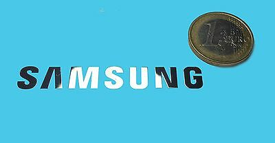 SAMSUNG METALISSED CHROME EFFECT STICKER LOGO AUFKLEBER 60x8mm [460]