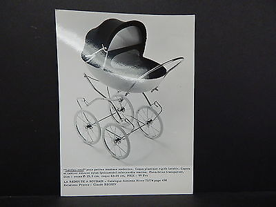 Vintage French Photo Baby Carriage Pram? 1920-1970 #04