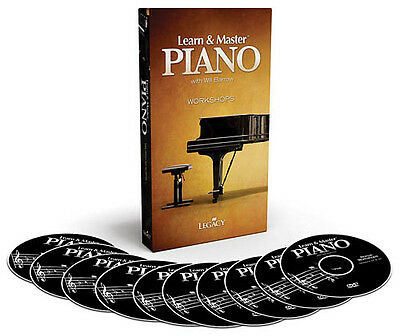 Learn and & Master Piano  Bonus Workshops 10 DVDs