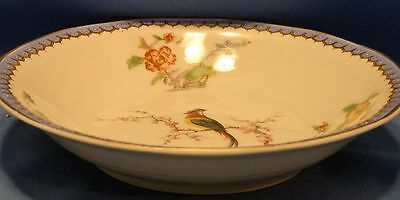 Theodore Haviland Limoges France Paradise pattern gold trim coupe cereal bowl