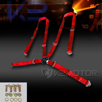 4 Point Camlock Harness Racing Seat Belt Red Ford Mustang Focus