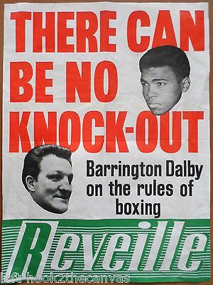 1966 MUHAMMAD ALI& BRIAN LONDON Reveille promotional poster boxing Cassius Clay