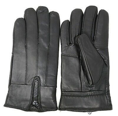 Men's Winter Warm Genuine Leather Gloves Thermal Insulation Lambskin NEW