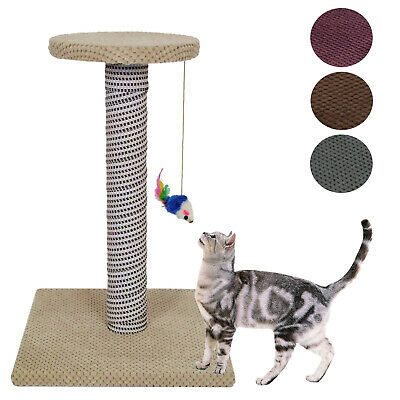 Cat Kitten Scratching Post Tree  Scratcher No Sisal Rope Activity Climbing Toy