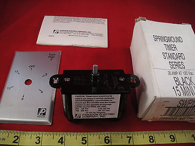 Paragon SWP15M Spring Wound Timer 20 amp 120vac Black 15 minute 20a New Nos