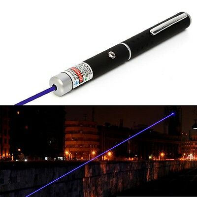 Powerful 1mW Purple Blue Beam LED Laser Lazer Pointer Pen Power Professional