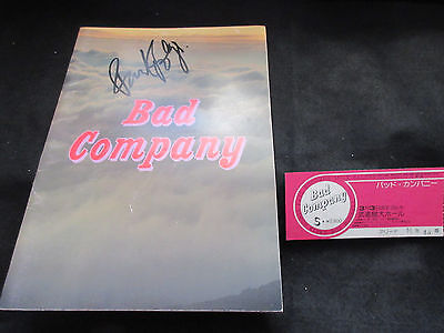 Bad Company 1975 Signed Japan Tour Book w Ticket Paul Rodgers Free Mott Hoople