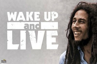 Bob Marley Wake Up And Live Music Poster Print Reggae New 36x24