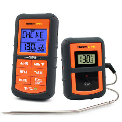 Wireless Digital Remote Meat Thermometer for BBQ Grill Oven Smoker Cooking Timer