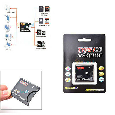 High Speed Wifi SD MMC SDHC SDXC to Compact Flash CF Type I Card Adapter UDMA US