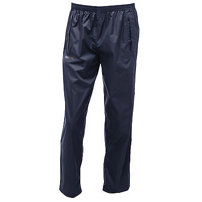 Regatta Mens Pack It Waterproof Trousers Isolite Navy Blue Rmw250