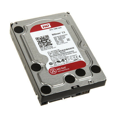 4TB WD Red SATA 6Gb/s 64MB Cache Internal 3,5Zoll 24x7 optimized for SOHO NAS sy