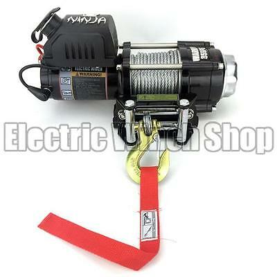 Warrior Ninja 3500 24v Electric Winch with Steel Cable