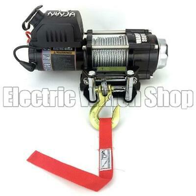 Warrior Ninja 3500 12v Electric Winch with Steel Cable