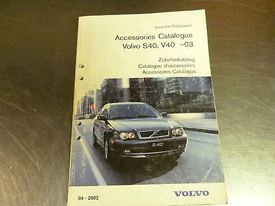 Original Volvo accessories catalog for Volvo S40 and V40 (-2003)
