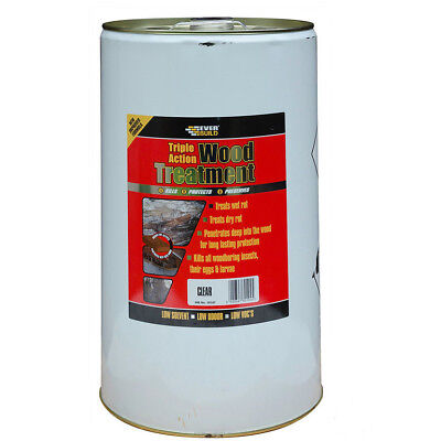 Everbuild TRIPLE ACTION WOOD TREATMENT Preserver - Dry Rot | Worms Insects | 25L