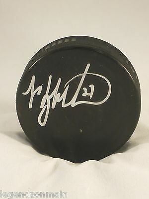 Manny Malhotra Montreal Canadiens Signed Official Game Puck LOM mm5