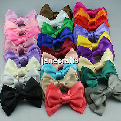 "1pc 4"" Women Girls Baby Kid Satin Ribbon Bowknot Headwear Hair Bow Hair Clip Pin"